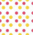 seamless texture with flowers elegance kid pattern vector image vector image
