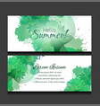 set of templates of horizontal banners with green vector image vector image