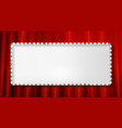 silver frame cinema on a dark background vector image vector image