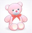 simple cute pink cuddly teddy bear vector image