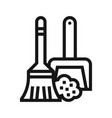 sweep icon vector image vector image