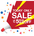 today only sale up to 50 off image vector image vector image