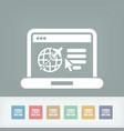 travel agency website icon vector image vector image