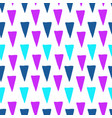 triangular colorful hand drawn seamless pattern vector image