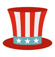 uncle sam hat icon isolated vector image vector image