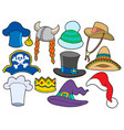 various hats collection vector image