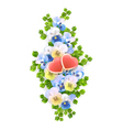 vertical flowers hearts vector image vector image