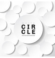 white template paper circle banner with shadow on vector image vector image