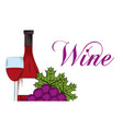 wine drink alcohol card vector image vector image