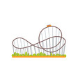 rollercoaster track with train extreme ride vector image