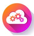 cloud logo cloud services cloud computing gear vector image
