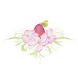 egg and apple flowers vector image