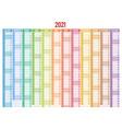 2021 calendar business planner print template vector image
