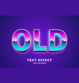 80s text style effect vector image vector image