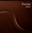 abstract chocolate sweet silk background vector image vector image