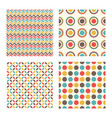 abstract geometric retro pattern vintage design vector image vector image