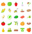 arboriculture icons set cartoon style vector image vector image
