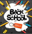 back to school sale design with pencils vector image