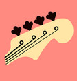 bass guitar logo design abstract vector image vector image