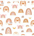 boho rainbow love pattern trendy cute rainbows vector image vector image