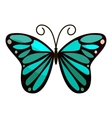 Bright butterfly icon cartoon style vector image vector image