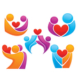 bright people in love vector image