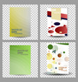 business presentation templates infographic vector image