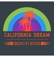 california dream typography vector image