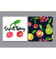 Card with fruit Watercolor vector image vector image