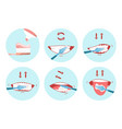 collection clean teeths images dental vector image