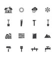 construction equipment icons set vector image vector image