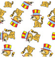 cute cat circus of pattern doodle vector image vector image