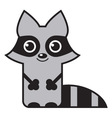 cute raccoon vector image vector image