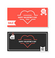 discounts banners for happy valentine day vector image vector image