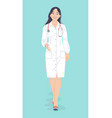 doctor female character full length vector image vector image