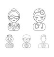 doctor scientist businessman prisoner vector image vector image