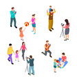 family photo shoot isometric parents with vector image vector image