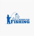 fishing logo badge 10 vector image vector image