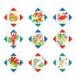 fresh healthy dinner of sea animals delicious vector image vector image