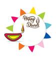 happy diwali festival poster design vector image vector image