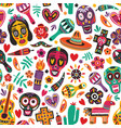 holiday seamless pattern decorated by mexican vector image vector image
