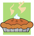 Hot Thanksgiving Pie vector image