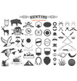 hunting label renerator vector image vector image