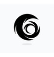 hurricane icon template swirl vector image