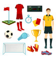 icons for soccer or football sport game vector image