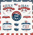 Independence and Memorial Day Badges vector image