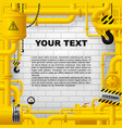 industrial frame with yellow pipelines and other vector image vector image