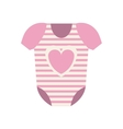 Isolated baby cloth design vector image vector image