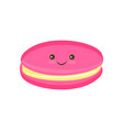 macaroon cookie color vector image