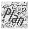 Make A Financial Plan And Work The Plan Word Cloud vector image vector image
